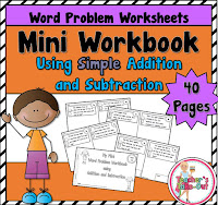 Mini Workbook using Simple Addition Word Problems