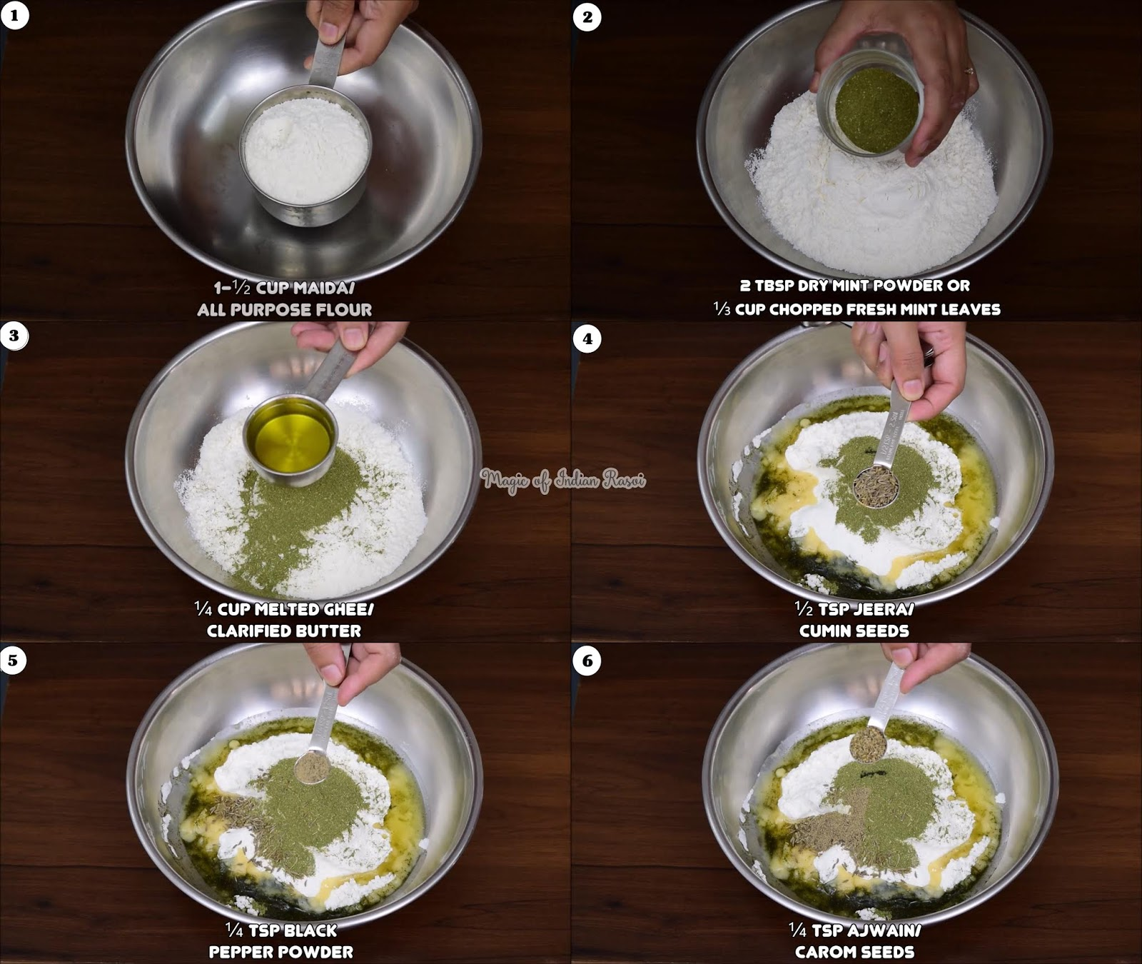 Pudina Mathri Recipe - क्रिस्पी और खस्ता पुदीना मठरी  - Priya R - Magic of Indian Rasoi