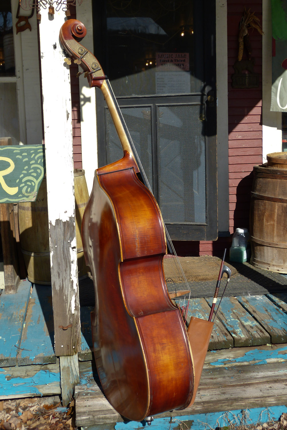 1950s west german made 3 4 double bass. Black Bedroom Furniture Sets. Home Design Ideas