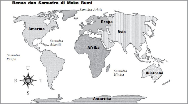 Bagaimana Cara Membaca Bagian-Bagian Benua Dan Samudra Dalam Peta Atau Globe?