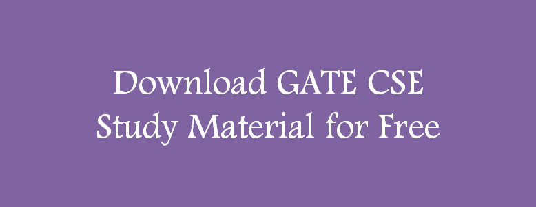 Material for GATE CSE