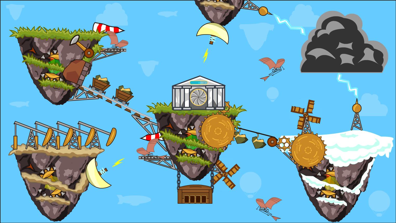 Парящие острова в Steampunk Idle Spinner