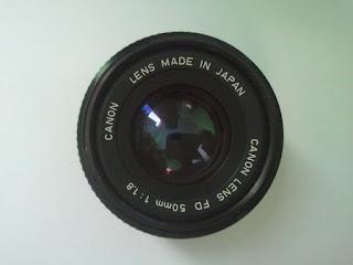 depan lensa canon FD 50mm f/1.8