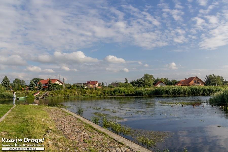 Ujście rzeki Pasłęki do Zalewu Wiślanego