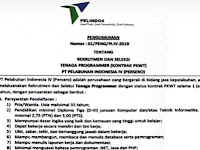 Rekrutmen PT Pelindo IV (Persero) Makassar Tenaga Programmer (Kontrak PKWT)