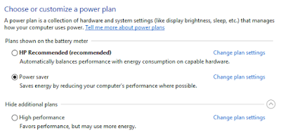 Cara mengatur kinerja processor untuk menghebat battery laptop