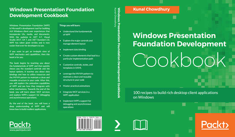 Windows Presentation Foundation Foundation (WPF) Development Cookbook (Author: Kunal Chowdhury, Publisher: Packt)