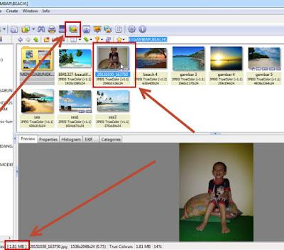 cara merubah ukuran size  gambar menjadi lebih kecil
