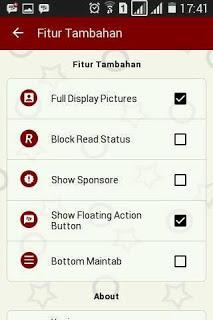 BBM Mod Red Elegant V.3.0.0.18 Apk