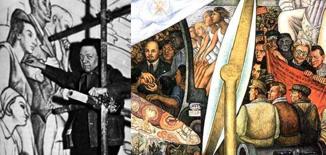 Yo amo la historia new deal parte ii for Diego rivera mural at rockefeller center