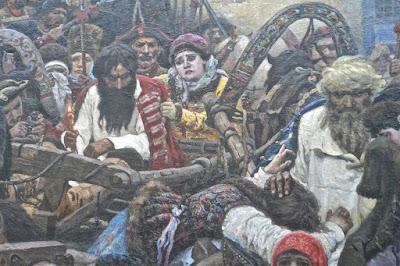 Moscou : Vassili Invanovitch Sourikov Le matin de l'exécution des Stresly (1881) détail