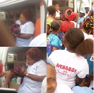 Amazing Moment Lady Gave Birth At PDP Rally In Delta (Photos)