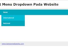 Membuat Menu Dropdown Pada Website Dengan HTML Dan CSS
