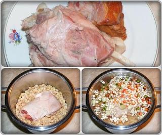 preparare mancare de fasole uscata cu ciolan de porc afumat, cum se face mancarea de fasole supa si scazuta, retete de mancare, retete culinare,