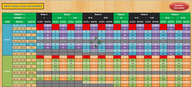 Aplikasi Excel Pembuat Jadwal Pelajaran Otomatis