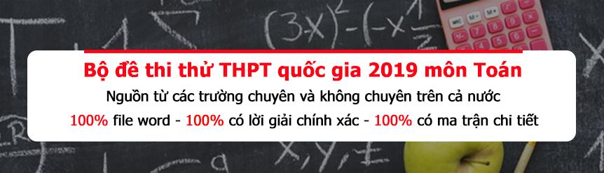 Bộ đề thi thử THPT quốc gia môn toán file word