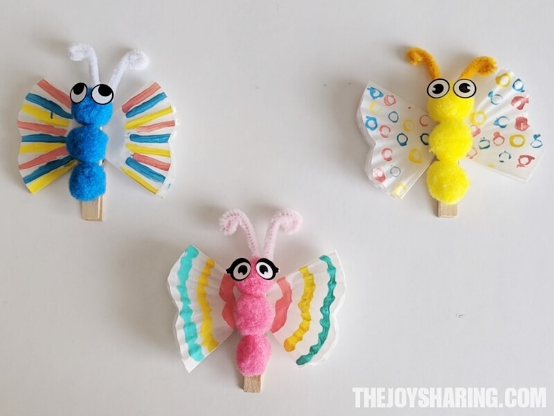 Cupcake Liner Butterfly Craft For Kids The Joy Of Sharing