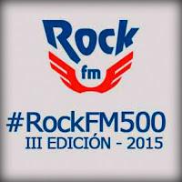 Logo de las 500 mejores canciones del rock según Rock FM