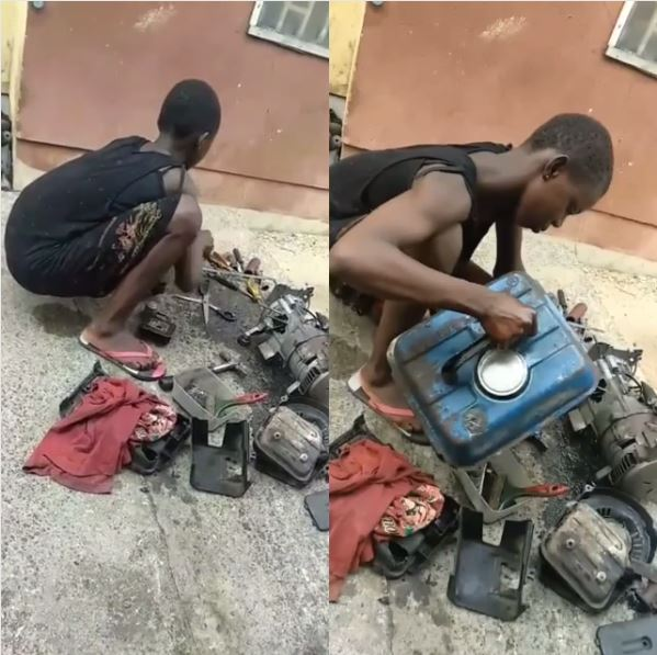 See 11yrs Girl In Primary 6 Who Services & Repairs Generators To Help Her Family
