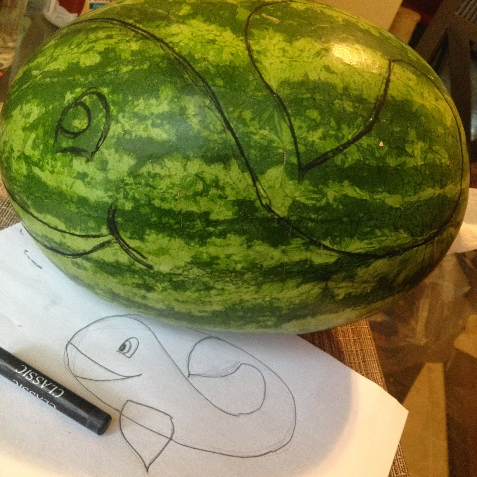 Bris Party Creations Watermelon Whale