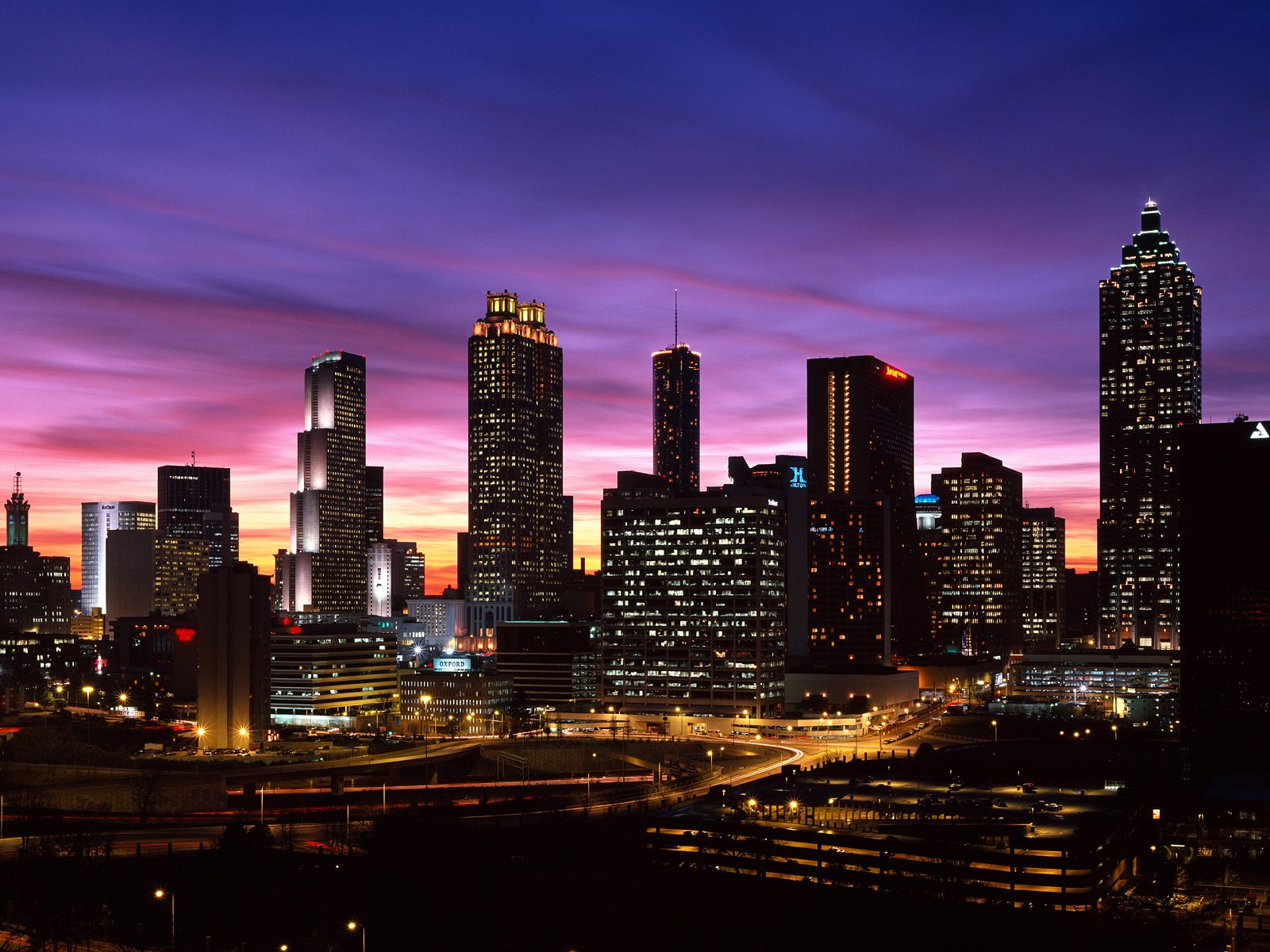 City Building Lights Wallpaper HD