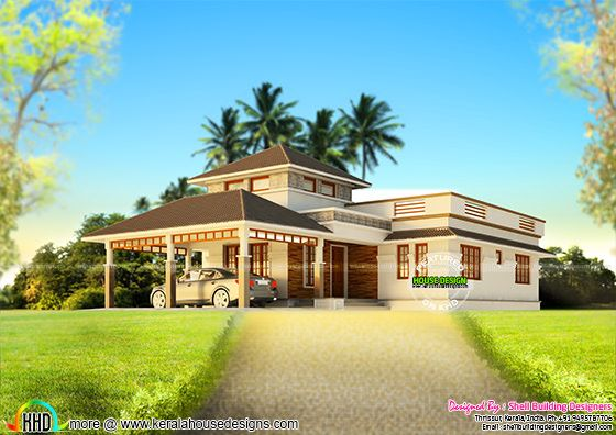 House design for hill area