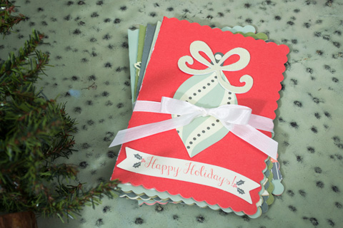If You Are Done With Your Holiday Cards Could Make Some Extra And Tie Them Up To Give Someone Else What A Great Gift Idea For Who Likes