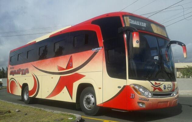 Cooperativa de Transportes Santa en la ciudad de Ambato
