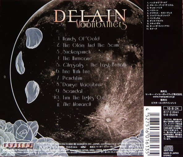 DELAIN - Moonbathers [Japan Edition] (2016) back