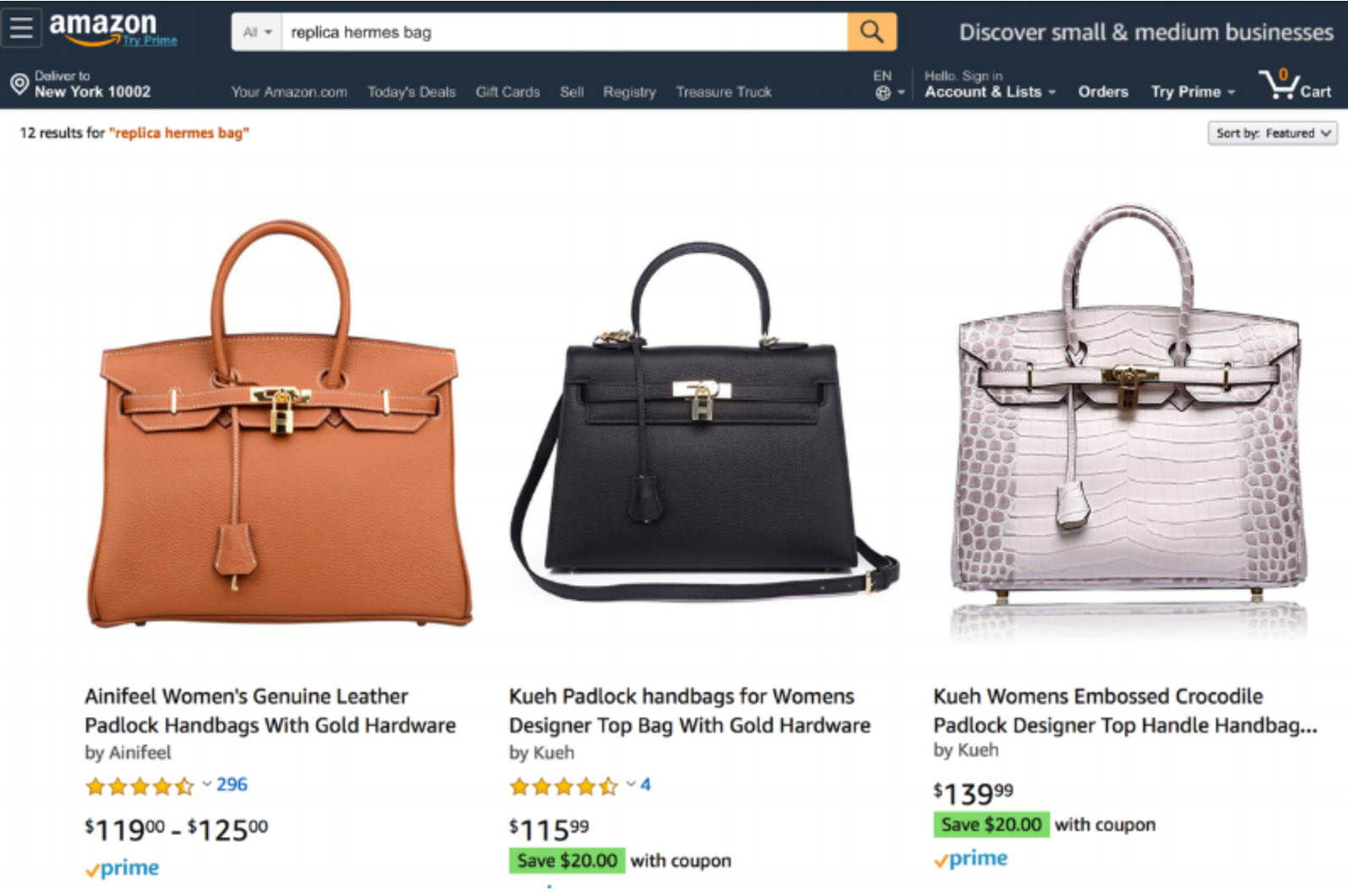 76277985f2 Amazon Admits to Having a Counterfeiting Problem