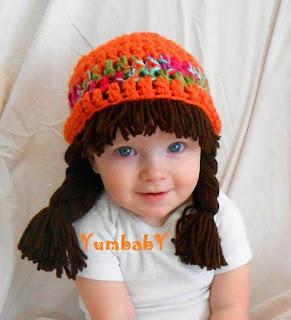 Örgülü Saçlı Şapka / Bere -1