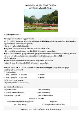 Hotel Tisza Szolnok Nyereményjáték