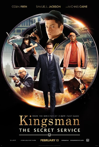 Poster of Kingsman The Secret Service 2014 Dual Audio 720p BluRay With ESubs