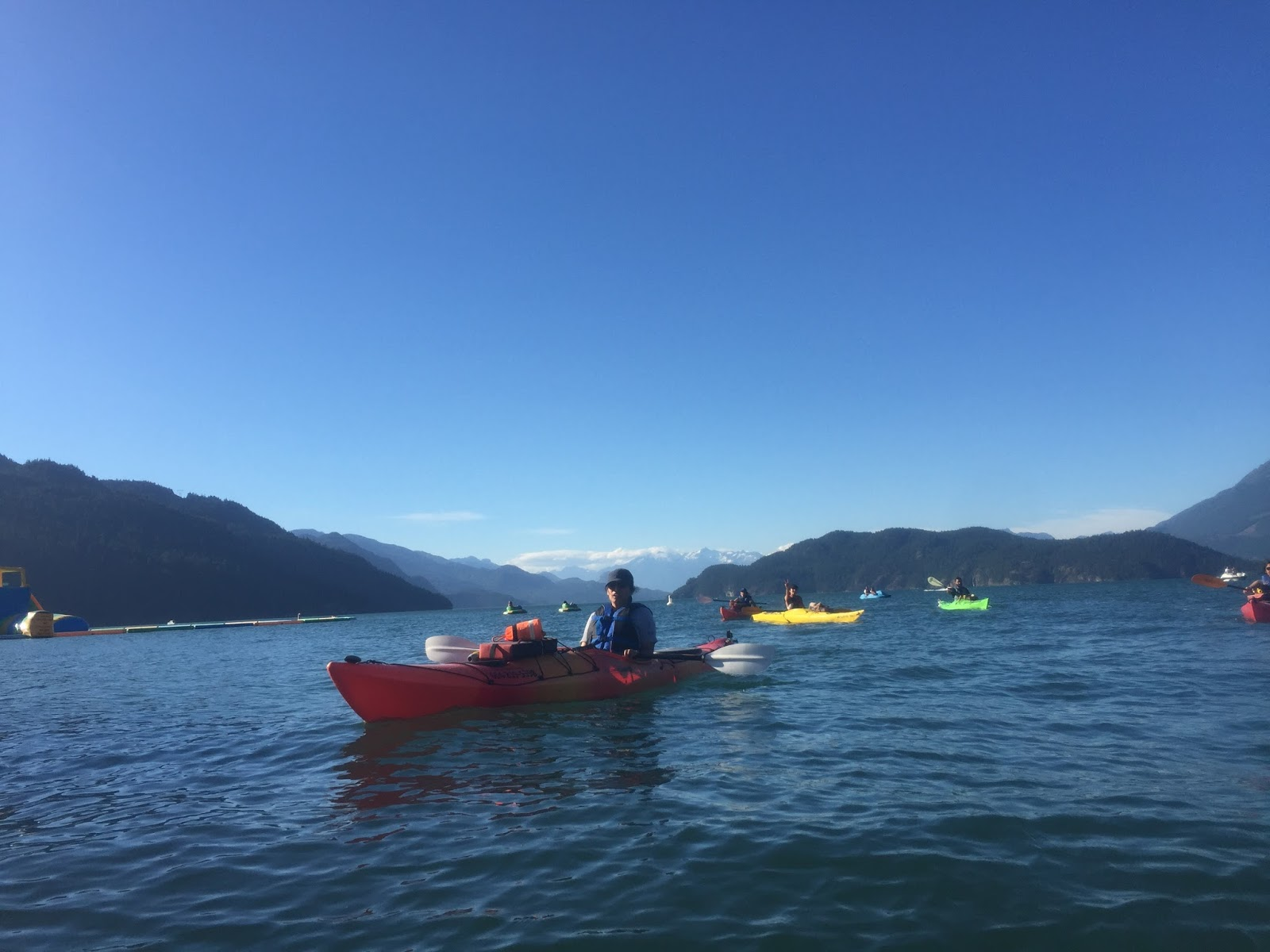 kayaking at harrison hot springs