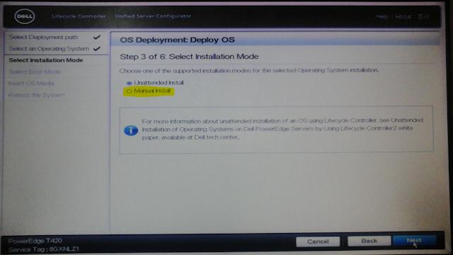 Imagem OS Deployment opção manual