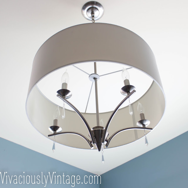Transitional Crystal, Drum Shade Chandelier