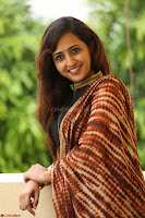 Lasya looks super cute in black choli Saree at Raja Meru Keka Press Meet ~  Exclusive 045.JPG