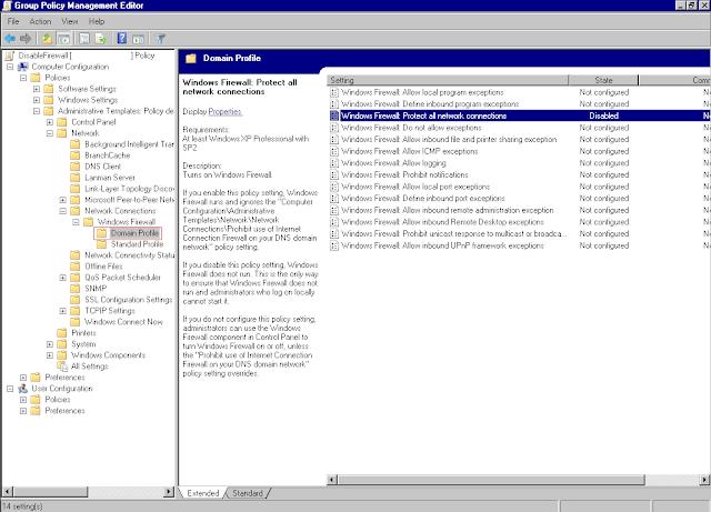 Desabilitar Windows Firewall via Group Policy