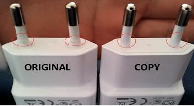 cara membedakan charger samsung original
