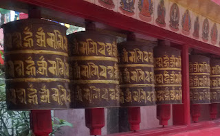 Prayer Wheels at Mahakal Temple, Darjeeling
