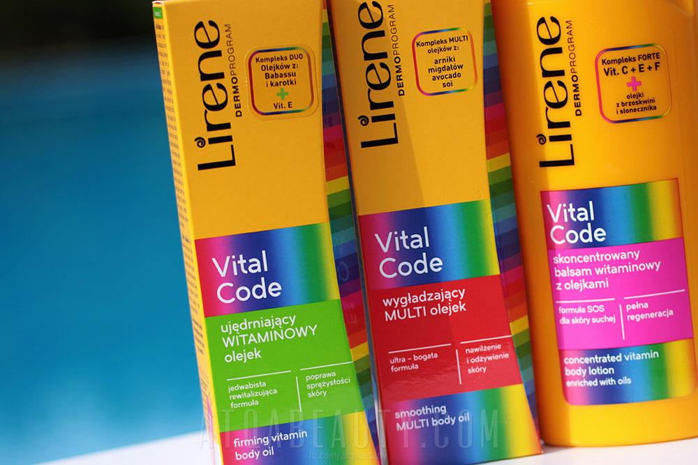 Pielęgnacja :: VITAL CODE Lirene <br>(Skoncentrowany balsam z olejkami, Ujędrniający witaminowy olejek, Wygładzający multi olejek) [recenzja]