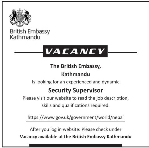 Job at British Embassy, Kathmandu | Jobs in Nepal