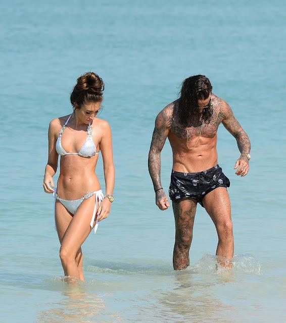 Megan McKenna in Bikini on a beach in Dubai