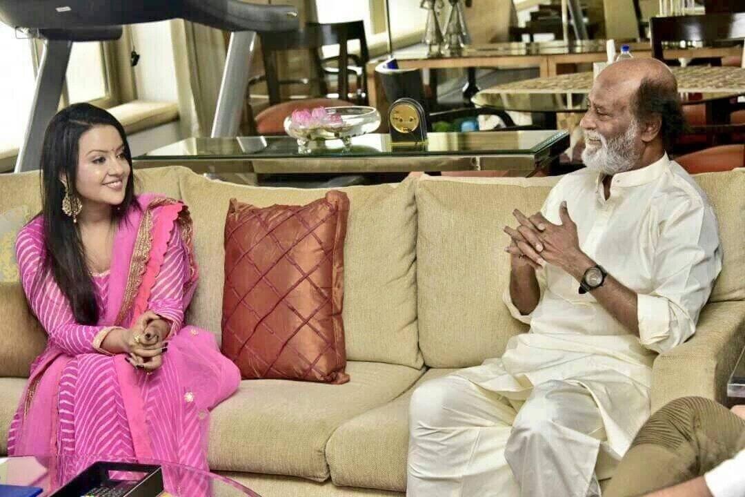 Rajinikanth Meets Maharashtra CM's wife Amruta Fadnavis