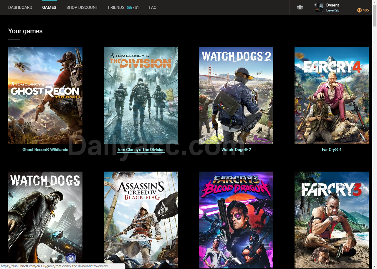 Huge list Ubisoft.com Premium Games April, 2017