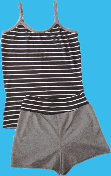 3dbe306dba Pijamas compuestos por musculosa y short ajustado