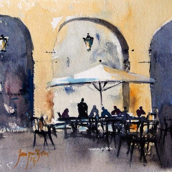 Картины акварелью. Jacques Zerr