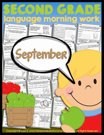 Second Grade Language Morning Work: September