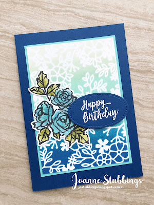 Jo's Stamping Spot - ESAD 2018 Annual Catalogue Launch Blog Hop using Blueberry Bushel and Delightfully Detailed DSP by Stampin' Up!