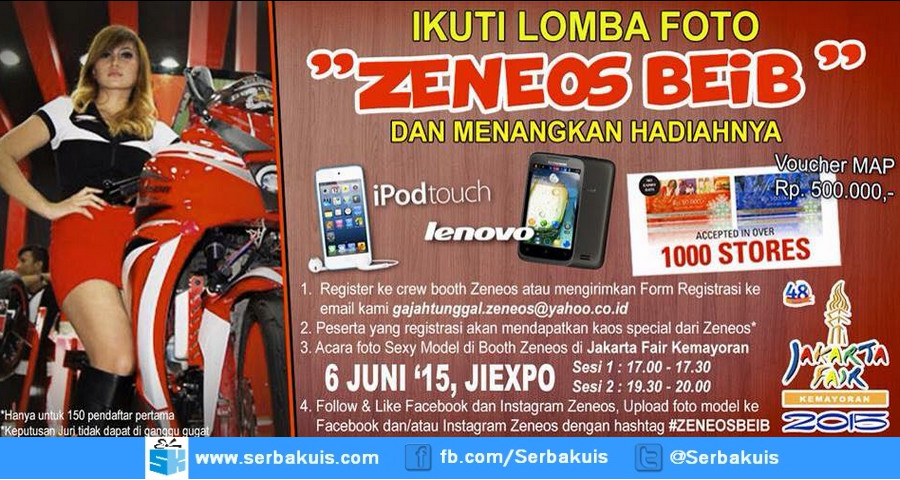 Lomba Foto Zeneos Beib Berhadiah iPod Touch, Android, & Voucher MAP